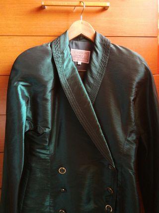 Preciosa Chaqueta/Blazer, verde esmeralda.talla 40