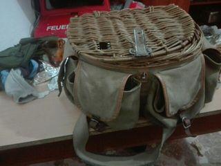 vendo cesta antigua de pesca