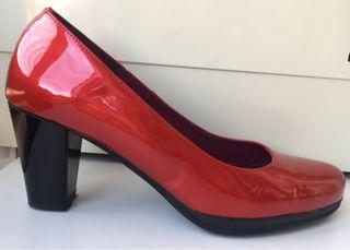 #Zapatos #charol #rojo T40