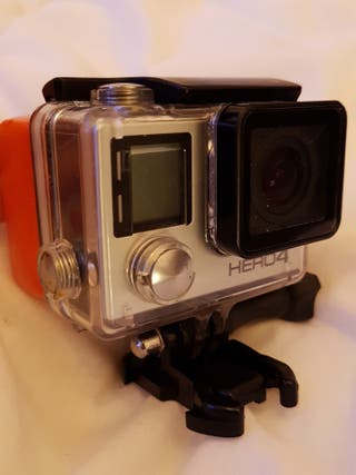 gopro hero 4 silver camera with touch screen