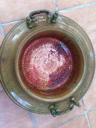 Brasero cobre antigua 40 cm