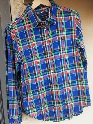 Camisa niño cuadros Ralph Lauren.