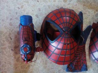 mascara y tira tela arañas del spiderman