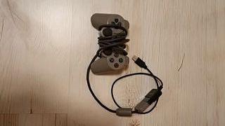 Mando Playstation con adaptador USB para ordenador