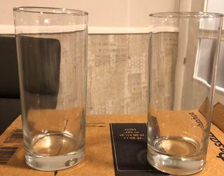 Vasos tubo anchos
