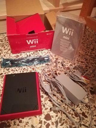 Mini Wii con dos juegos y mando
