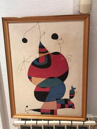 Copia cuadro Miró vintage
