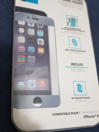 Apple Iphone 6, 6S borde gris protector de pantall