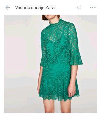 Vestido zara detalle encaje de segunda mano por 25 € en