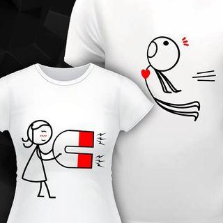 camisetas de parejas, novios, regalo