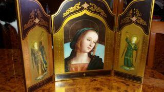 retablo antiguo de madera