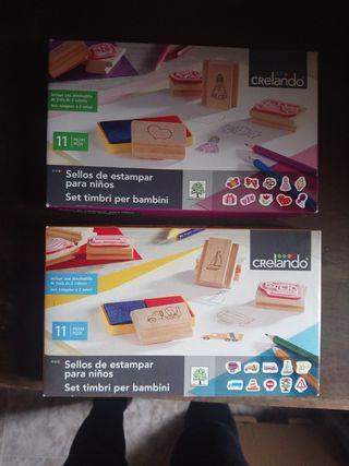 Juguetes, sellos para niña. Sin usar.