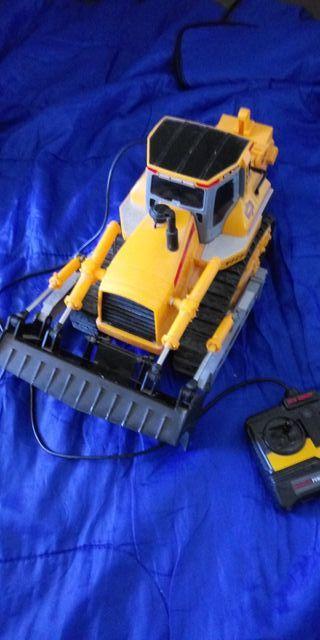 retrocargadora excavadora con mando juguete