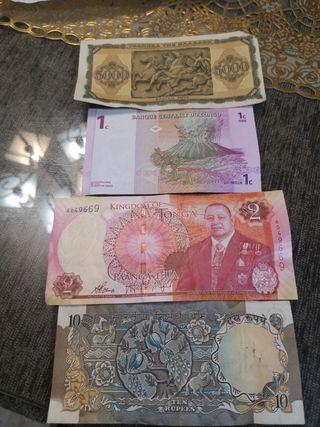 billetes varios países