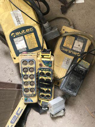 Radio control , cargadores y mandos de grúa torre