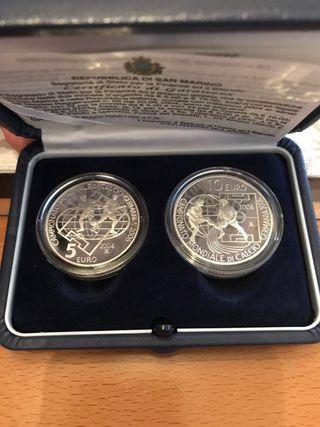 Monedas de plata de San Marino 5 y 10 euros