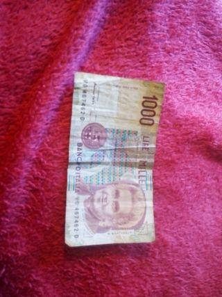 Billete 1000 liras Italia
