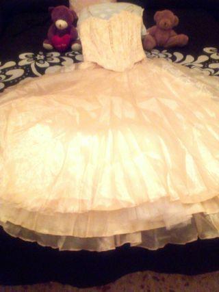 vestido de princesa talla 36/38