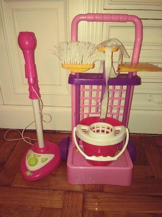 microfono y carrita limpieza