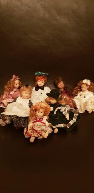 preciosas muñecas de porcelana