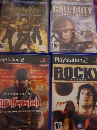 4 videojuegos PlayStation 2