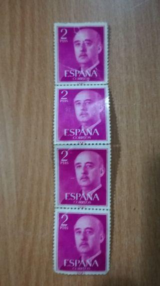 sello franco de dos pesetas