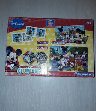 Mickey Kit Cubos+dominó+puzzle 27x16