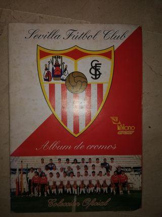 album de cromos del Sevilla año 1995