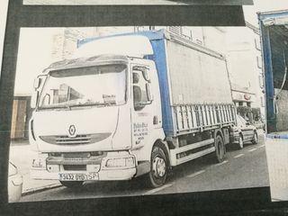 Camión Renault y Tarjeta de transporte