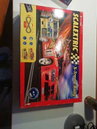 scalextric x-treme rally + lote de piezas antiguas