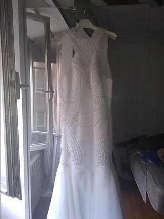 Hacer pulsera con tela vestido novia