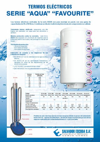 Termo de agua sanitaria marca Idrogas