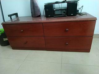 mueble 4 cajones marron