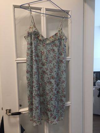 Vestido corto estampado mango