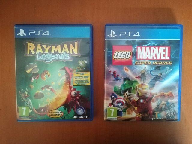 Juegos Ps4 Lego Marvel Y Rayman De Segunda Mano Por 10 En