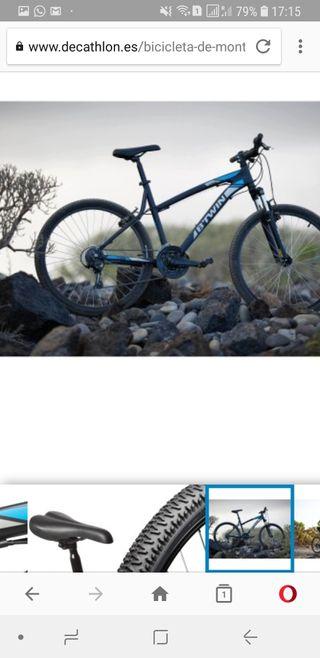 """Bicicleta de montaña BTWIN ROCKRIDER 340 gris 26"""""""