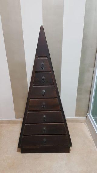 Mueble cajonera en piramide