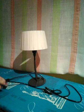 Lámpara de mesa marrón crema Habitat E14 60W