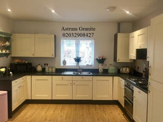 Absolute Black Granite Kitchen Worktop in London