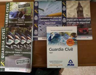 libros oposición guardia civil 2016