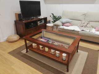 Mesa centro / auxiliar teca
