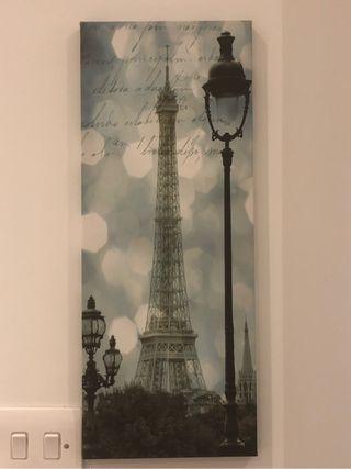 Canvas picture Paris scene