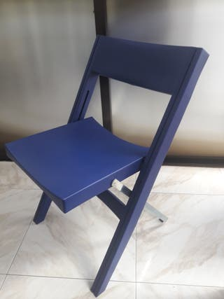 Sillas plegables de pl stico de segunda mano en wallapop for Sillas plasticas plegables