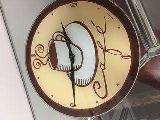 Reloj de cocina de vidrio