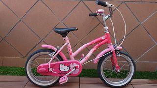 Bici niña Hello Kitty - rueda 14