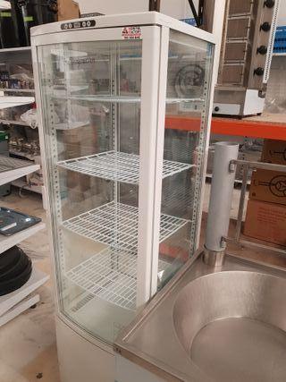 vitrina 4 caras panorámica refrigerada sobremesa