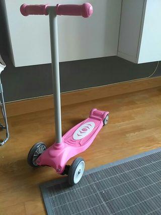 patinete tres ruedas rosa