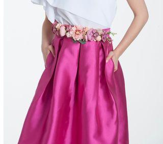 Falda de fiesta rosa de segunda mano en Madrid en WALLAPOP 283bdeb0e9c5