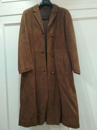 Abrigo piel ante marrón mujer T44