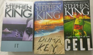 3 libros/books - Stephen King